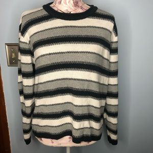 Sweaters - Forever Striped Sweater black white gray Large
